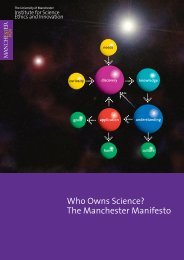 The Manchester Manifesto - Institute for Science, Ethics and ...