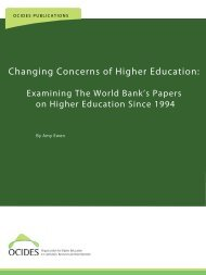 Changing Concerns of Higher Education: - ocides