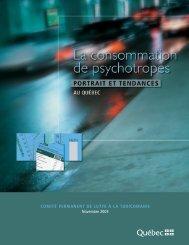 La consommation de psychotropes : portrait et tendances au Québec