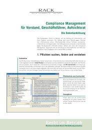 Compliance Management für Vorstand, Geschäftsführer, Aufsichtsrat