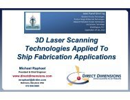 3D Laser Scanning Technologies Applied To Ship Fabrication - NSRP