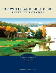 bigwin island golf club the equity advantage