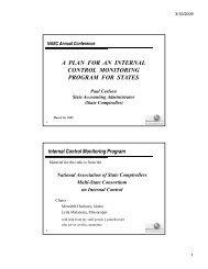 Internal Control Monitoring Program - NASACT