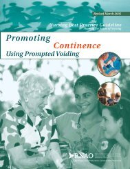Promoting Continence - Long-Term Care Best Practices Toolkit