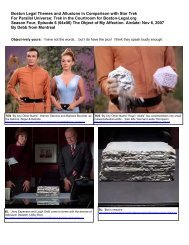 Boston Legal Themes and Allusions in Comparison with Star Trek ...