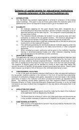 Scheme of capital grants for educational institutions towards ...
