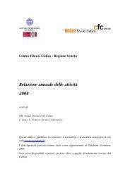 REPORT 3.12.08 - Centro Regionale Veneto Fibrosi Cistica