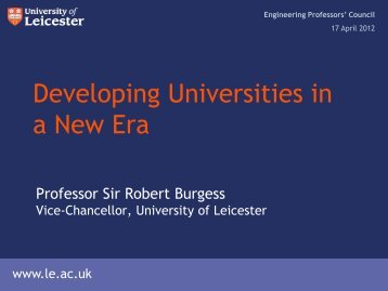 Developing Universities in a New Era - Engineering Professors ...