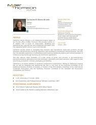 Catherine M. Dennis Brooks PROFILE ... - Miller Thomson