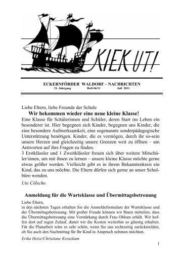 Kiek Ut - Heft 06/11 Juli 2011 - Freie Waldorfschule Eckernförde