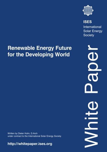 Renewable Energy Future for the Developing ... - ISES White Paper