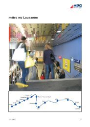 métro m2 Lausanne - APG SGA