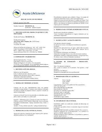 HDS Microfol Zn / NCh 2245 Página 1 de 2 - Afipa