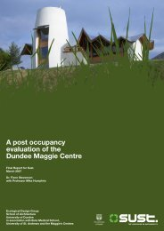 A post occupancy evaluation of the Dundee Maggie Centre - Sust.