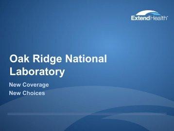 Extend Health Retiree Deck - Benefits - Oak Ridge National ...