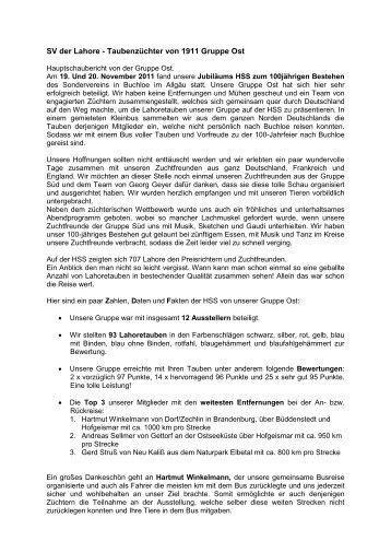 HSS Buchloe Bericht Grp Ost - Lahoretauben