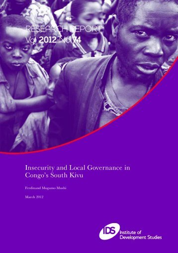 Insecurity and Local Governance in Congo's South Kivu - Institute of ...
