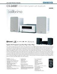 CS-245BT CD Hi-Fi Mini System with Bluetooth - Onkyo