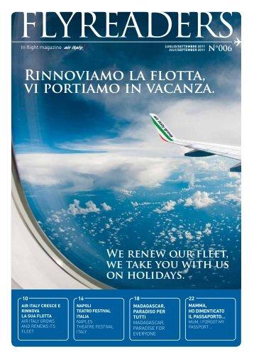 Rinnoviamo la flotta, vi portiamo in vacanza. - Air Italy