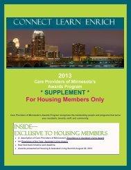 2013 Awards Program: Housing Members Supplement