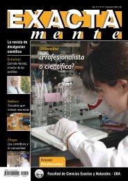 Profesionalista o científica? - Facultad de Ciencias Exactas y ...