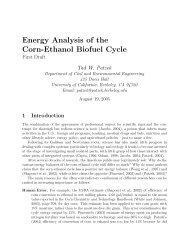 Energy Analysis of the Corn-Ethanol Biofuel Cycle - Tadeusz (Tad ...