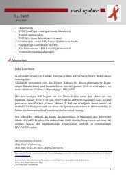 med update 4-09 - Die Aidshilfen Österreichs