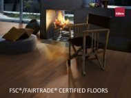 FSC®/FAIRTRADE® CERTIFIED FLOORS