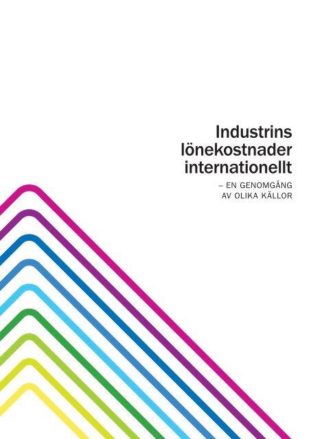 Industrins lönekostnader internationellt - en ... - Teknikföretagen