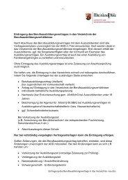 Eintragung des Berufsausbildungsvertrags in das Verzeichnis