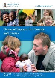 Financial Support For Parents And Carers - Bedfordshire County ...