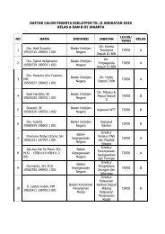 daftar calon peserta diklatpim tk. ii angkatan xxix kelas a dan b di ...
