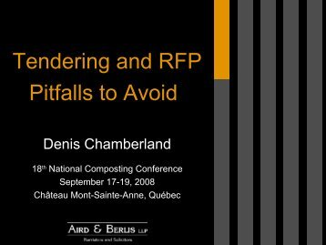Tendering and RFP Pitfalls to Avoid