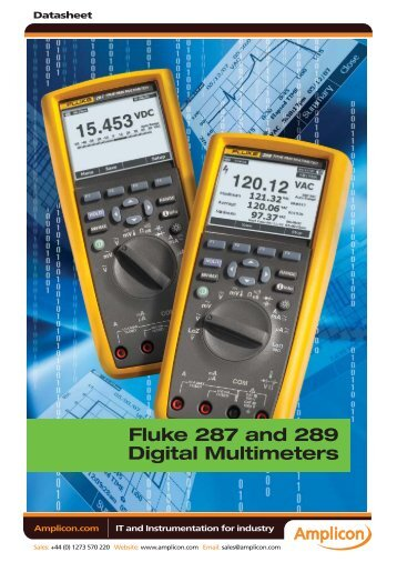 Fluke 287 and 289 Digital Multimeters - Amplicon