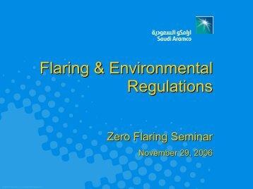 Flaring & Environmental Regulations