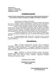 HCL 246 / 2006 - Primaria Municipiului Hunedoara