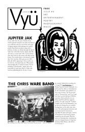 JUPITER JAK THE CHRIS WARE BAND - Vyu Magazine