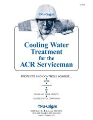 Cooling Water Treatment ACR Serviceman - Nu-Calgon