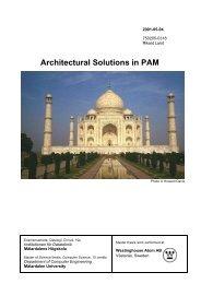 Architectural Solutions in PAM - Research - Mälardalens högskola