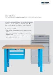 Lista Selection Die Schubladenschränke und Werkbänke ... - Lista AG