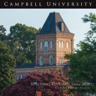 Building Futures: Vision 2020 - Campbell University