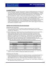 NautiChem WKT SYNTHESEGUMMI - Waage Farben Online