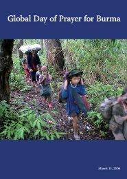 Day of Prayer 2005 brochure (PDF) - Christians Concerned for Burma