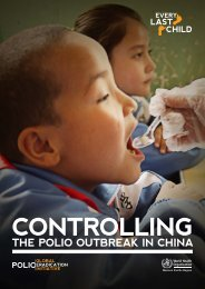 Controlling the Polio Outbreak in China - WHO Western Pacific Region