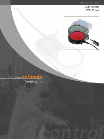 SAVOX® C-C400 Com-control PTT- Einheit