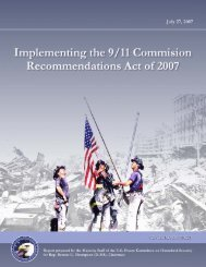 Implementing 9/11 Commission Recommendations Act of 2007
