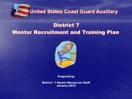 United States Coast Guard Auxiliary District 7 Mentor Recruitment ...