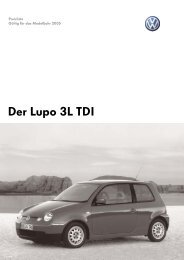 Lupo 3l TDI.indd - VW  3-liter Lupo Club