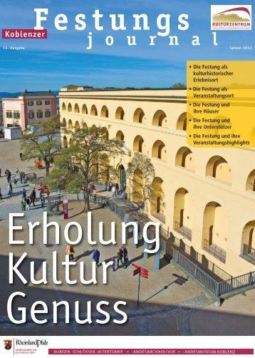 Festungsjournal 2012 - Festung Ehrenbreitstein