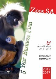 5 Year Business Plan - Executive Summary - Zoos South Australia